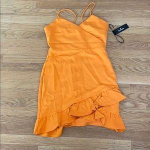 Orange- Gold mini Dress